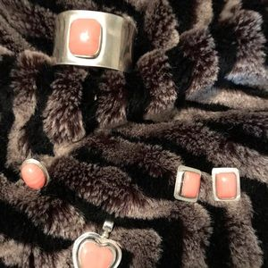 Set- Custom design Mexican Silver and coral agate